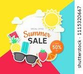 summer sale background for... | Shutterstock .eps vector #1115320667