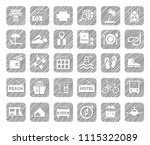 different types of holidays and ... | Shutterstock .eps vector #1115322089