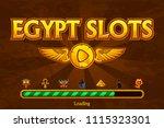 vector egyptian slots on...   Shutterstock .eps vector #1115323301