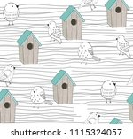 vector seamless background with ... | Shutterstock .eps vector #1115324057
