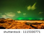 star on the green sky at night... | Shutterstock . vector #1115330771
