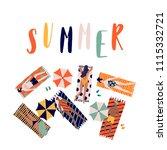 summer vector beach...   Shutterstock .eps vector #1115332721