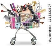vector supermarket cart with... | Shutterstock .eps vector #1115333807