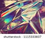 holographic iridescent gradient ... | Shutterstock . vector #1115333837