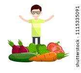 cartoon flat illustration   a...   Shutterstock .eps vector #1115335091