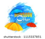 sale abstract or poster for... | Shutterstock .eps vector #1115337851