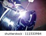 welding alloy rim. alloy wheel... | Shutterstock . vector #111533984