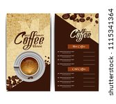 coffee menu card | Shutterstock .eps vector #1115341364