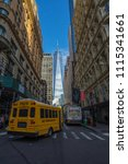 manhattan  new york usa   may 3 ... | Shutterstock . vector #1115341661