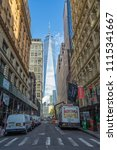 manhattan  new york usa   may 3 ... | Shutterstock . vector #1115341667