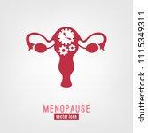 menopause vector icon. editable ... | Shutterstock .eps vector #1115349311