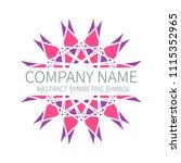 abstract symmetry circle logo.... | Shutterstock .eps vector #1115352965
