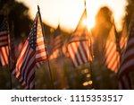 american flag memorial | Shutterstock . vector #1115353517