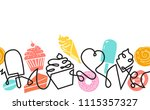 bakery and confectionery shop... | Shutterstock .eps vector #1115357327