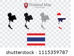 high quality map of thailand...   Shutterstock .eps vector #1115359787