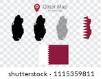 high quality map of qatar with... | Shutterstock .eps vector #1115359811