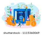 concept 3d printing finished...   Shutterstock .eps vector #1115360069