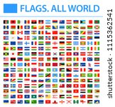 all world flags   new 2018  ... | Shutterstock .eps vector #1115362541