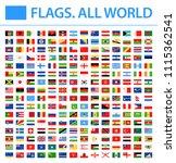 all world flags   new 2018  ... | Shutterstock .eps vector #1115362541