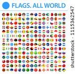 all world flags   new 2018  ... | Shutterstock .eps vector #1115362547