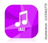 jazz music violet square vector ...   Shutterstock .eps vector #1115362775