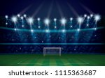 football soccer arena field... | Shutterstock .eps vector #1115363687