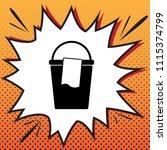 bucket and a rag sign. vector....   Shutterstock .eps vector #1115374799