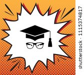 mortar board or graduation cap... | Shutterstock .eps vector #1115374817