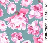 vintage floral background.... | Shutterstock .eps vector #1115378264