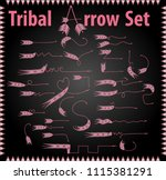 vector tribal arrow signs large ... | Shutterstock .eps vector #1115381291
