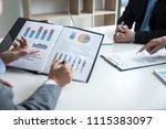 professional investor meeting... | Shutterstock . vector #1115383097