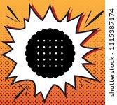 round biscuit sign. vector.... | Shutterstock .eps vector #1115387174