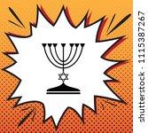 jewish menorah candlestick in... | Shutterstock .eps vector #1115387267