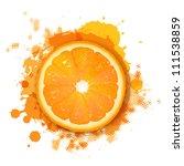 Orange With Orange Blob ...