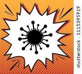 virus sign illustration. vector.... | Shutterstock .eps vector #1115395919