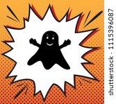 ghost sign. vector. comics... | Shutterstock .eps vector #1115396087