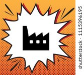 factory sign illustration.... | Shutterstock .eps vector #1115396195