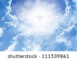 jesus christ in blue sky with