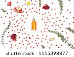 flatlay with pomegranate seeds  ... | Shutterstock . vector #1115398877