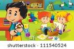 the cartoon kindergarten   fun... | Shutterstock . vector #111540524