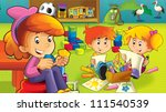 the cartoon kindergarten   fun... | Shutterstock . vector #111540539