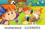 the cartoon kindergarten   fun... | Shutterstock . vector #111540551