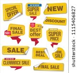 collection of sale stickers and ... | Shutterstock .eps vector #1115406827