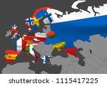 europe map vector illustration... | Shutterstock .eps vector #1115417225