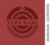 very rare realistic red emblem | Shutterstock .eps vector #1115424251