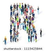 crowded isometric people vector ... | Shutterstock .eps vector #1115425844