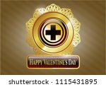 golden emblem or badge with... | Shutterstock .eps vector #1115431895