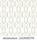 illustration  gold line... | Shutterstock .eps vector #1115435774