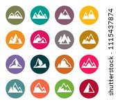 mountains icon set | Shutterstock .eps vector #1115437874