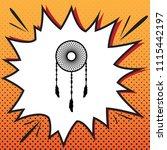dream catcher sign. vector.... | Shutterstock .eps vector #1115442197